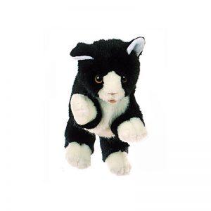 Kleine schwarze Katze - Tierpuppen