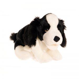 schwarz/weißer Hund - Tierpuppen