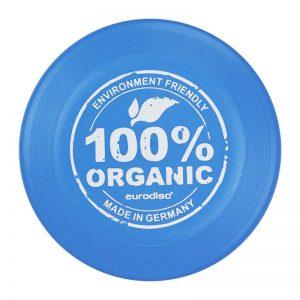 Wurfscheibe Eurodisc 100% Organisch Biologisch Blau
