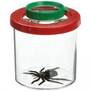 Insektensuchglas mit Lupe